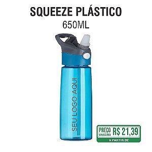 Squeeze Plástico com acionador para abertura 650ml