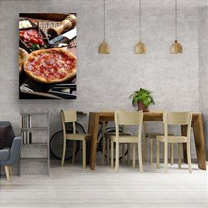 Quadro Decorativo - Pizza Pepperoni Grande