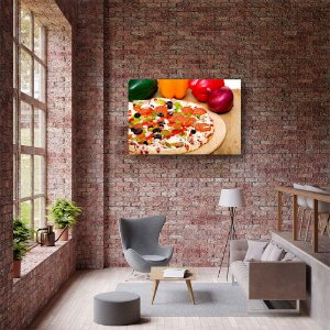 Quadro Decorativo - Pizza Pepperoni