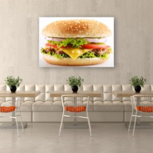 Quadro Decorativo - Hamburguer Grande