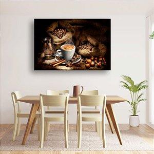 Quadro Decorativo - Café com Avelã e Canela