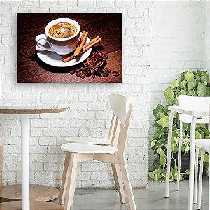 Quadro Decorativo - Café, Canela e Grãos