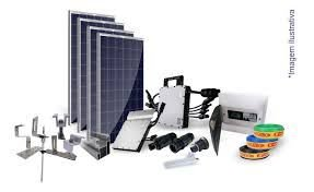 Kit Completo Usina Solar Com 4 Painel Fotovoltaico 1,320 Kwp = Gera 150kWh/mês