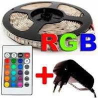Rolo 5 metros de fita led RGB com controle remoto
