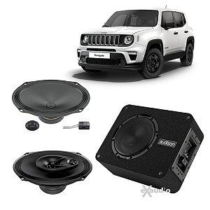 Combo Sistema Som Automotivo Jeep Renegade