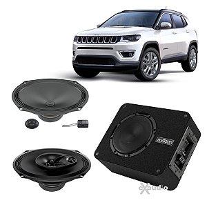 Combo Sistema Som Automotivo Jeep Compass