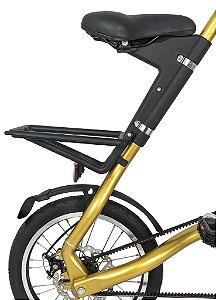 Bicicleta Dobravel Cicla - Estilo Design Praticidade (Dourada)