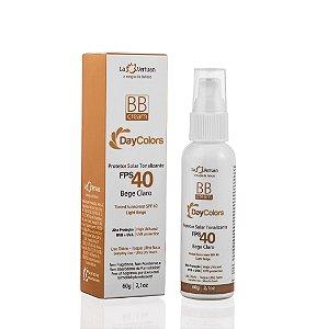 Protetor Solar Tonalizante FPS 40 60g. Proteção solar, antiaging e ação clareadora em um único produto. Toque super seco e make perfeita