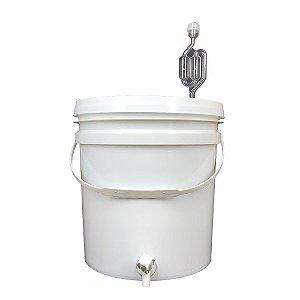 Balde Fermentador 12L c/ Torneira Simples e Airlock