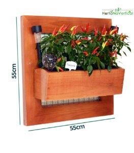 Horta Vertical 55x55cm + 1 Vaso de plantio direto - COM tela