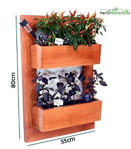 Auto Irrigável - Horta na Vertical + 2 Vasos de plantio direto - Sem Tela