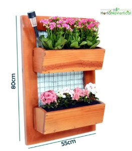 Jardim Vertical - COM tela - 2 Vasos