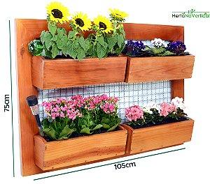 Auto Irrigável - Jardim Vertical de 4 Vasos de plantio direto