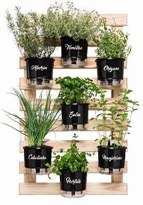 Horta Vertical Auto-Irrigável - Completa com 7 vasos (escolhas os vasos)