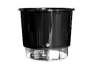 Vaso Auto-Irrigável - grande (16cm x 14,3cm) - diversas cores