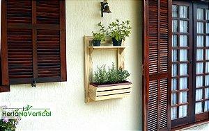 Painel Horta ou Jardim Vertical - Branco  - 2 Níveis