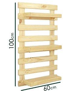 Pallet Horta Vertical (escolha a cor da madeira) com 3 prateleiras (100cmx60cm)