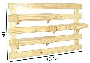 Pallet Horta Vertical  com 3 prateleiras (60cmx100cm) *PRODUTO PREMIUM*