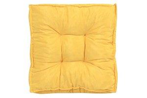 Futon - Almofada para Sacada/Jardim Liso Amarelo