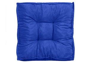 Futon - Almofada para Sacada/Jardim Liso Azul
