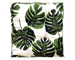 Futon - Almofada para Sacada/Jardim Estampado Folhas Verdes