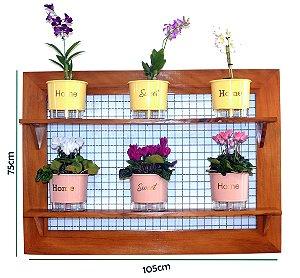 Horta Vertical de painel gigante com 6 Vasos Auto Irrigáveis lisos linha Wishes (escolha as cores)