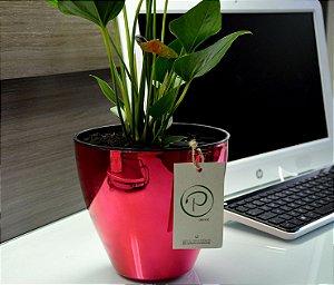 Vaso Auto Irrigável Plantiê Metalizados - Rosa Pink - LINHA PREMIUM