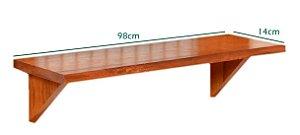 Prateleira para Painel Premium Avulsa grande  (98cmx14cm) com parafusos