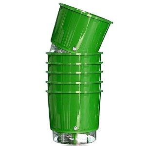 6 Vasos Auto-Irrigáveis grandes e Verdes (16cm x 14,3cm)