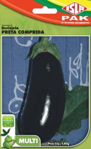 BERINJELA PRETA COMPRIDA - Semente para sua horta - Isla Multi Pack