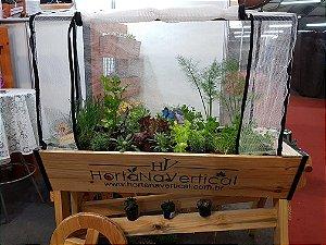 Horta Auto Irrigável carriola (carrinho)  gigante (1,30x50x30 e 70cm do chão) - Horta móvel em casa