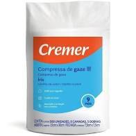 Compressa De Gaze Cremer 9 Fios Iris Pacote C /500 Unidades
