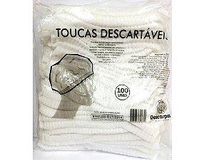 Toucas Descartáveis  Branca 100 Unidades Descarpack