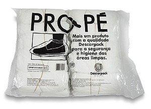 Sapatilha Pro Pé Descartável Branco 100 unidades Descarpack