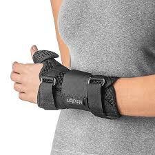 Órtese Comfort Air para Punho e Polegar Curta  Mão Esquerda Cor Preta Hidrolight