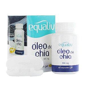 Óleo De Chia 500 mg 60 cápsulas Gel Equaliv