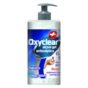 Oxyclear Álcool Gel 70% Antisséptico 500ml Zaninpharma