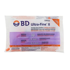 Seringa para Insulina Ultra Fine  0,3ml - BD 10 unidades