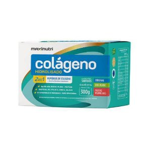 Colágeno Hidrolizado 2 em 1 de Peptídeos de Colágeno 300g com 30 Saches 10 g