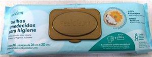 Toalhas Umedecidas para Higiene FeelClean 40 unidades