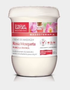 Rosa Mosqueta e Argila Branca D'água Natural