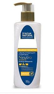 Creme de Massagem Corporal Neutro D'água Natural