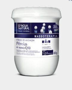 Creme de Massagem Pérolas + Nano Q10 D'água Natural