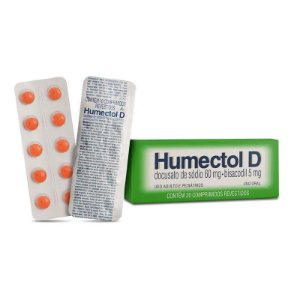 Humectol D Docusato de Sódio 60mg Bisacodil 5mg - Brainfarma