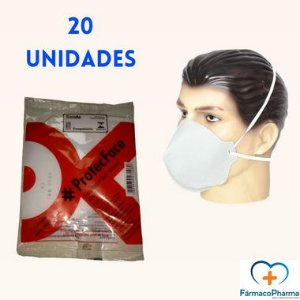 kit Máscara  PFF2 (N95) ProtecFace com 20 unidades Azul ou Branca