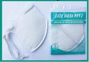 Máscara PFF2 (N95) Face Mask 1unidade Cor Branca