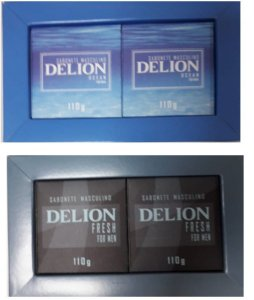 Kit Delion Fresh /Ocean sabonete masculino For Men c/ 2un