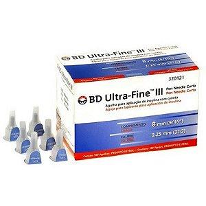 Agulhas BD Ultra Fine CURTA 8X0,25MM (31G)  1un av.