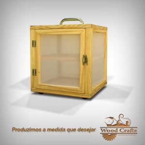 Caixa para Curar 02 Queijos com Prateleira Removível- Wood Crafts - 25x25x25 cm