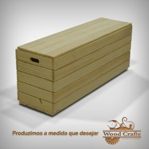Banco Baú - Wood Crafts - 130x40x50cm
